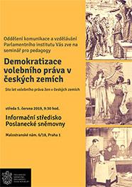 Pozvánka na seminář pedagogy o volbách