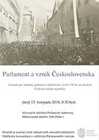 Pozvánka na seminář Parlament 1918