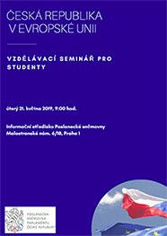 Pozvánka na seminář pro studenty o EU