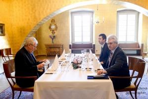 Jan Hamáček se setkal s prezidentem Milošem Zemanem (21. 1. 2016)