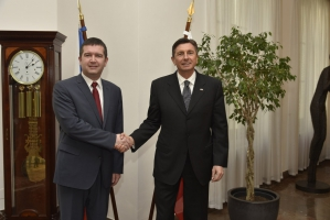 Jan Hamáček se setkal s prezidentem Slovinska (18. 2. 2016)